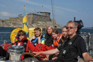 Dalarö skans family sailing tour